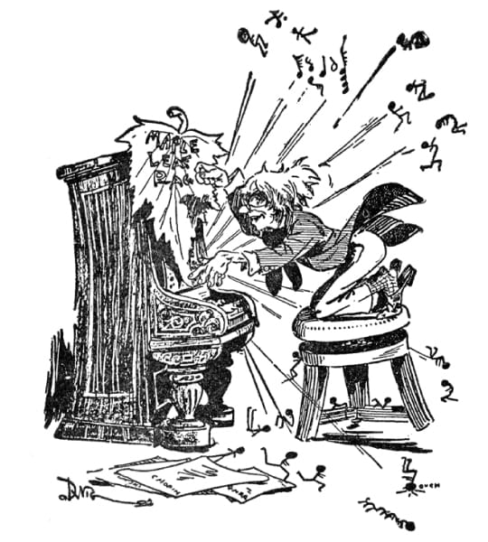 illustration of pianist playing Maple Leaf Rag