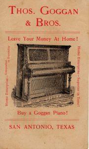 Thos. Goggan & Bros. trade card